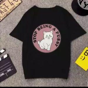 Tops - 😹Don't be a Puss¥ T Shirt 🎀💕 Harajuku Style